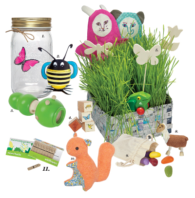 nature themed easter basket