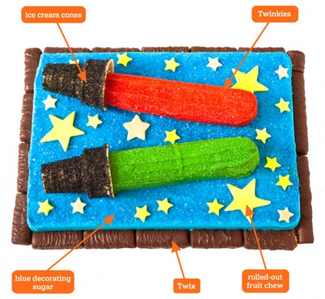 Star Wars cake cutout