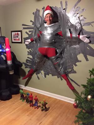 Dad Dresses As Life Size Elf On The Shelf Parenting