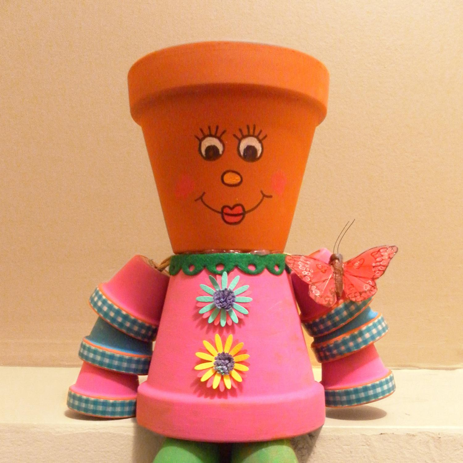 how to make people with flower pots