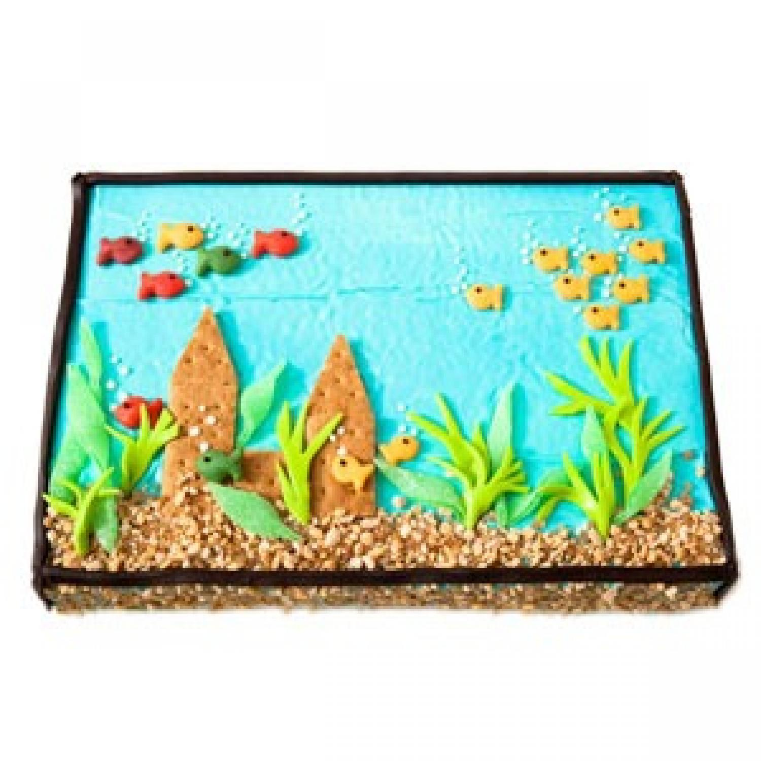 fish tank birthday cake design parenting