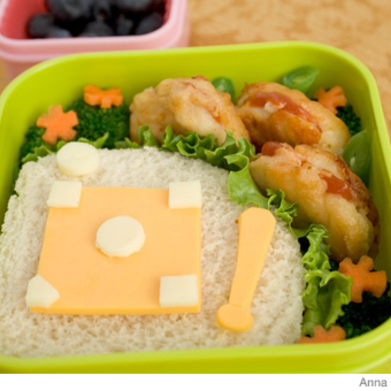 how to make a baseball bento lunch box parenting. Black Bedroom Furniture Sets. Home Design Ideas