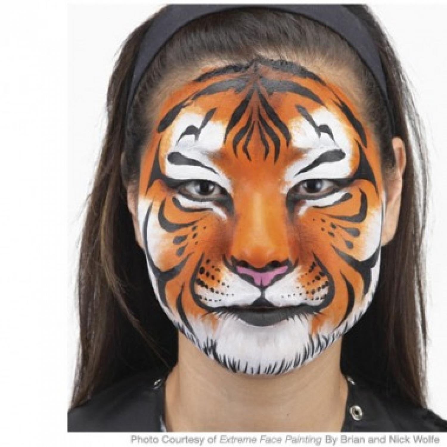 Easy Tiger Face Painting Design - Parenting