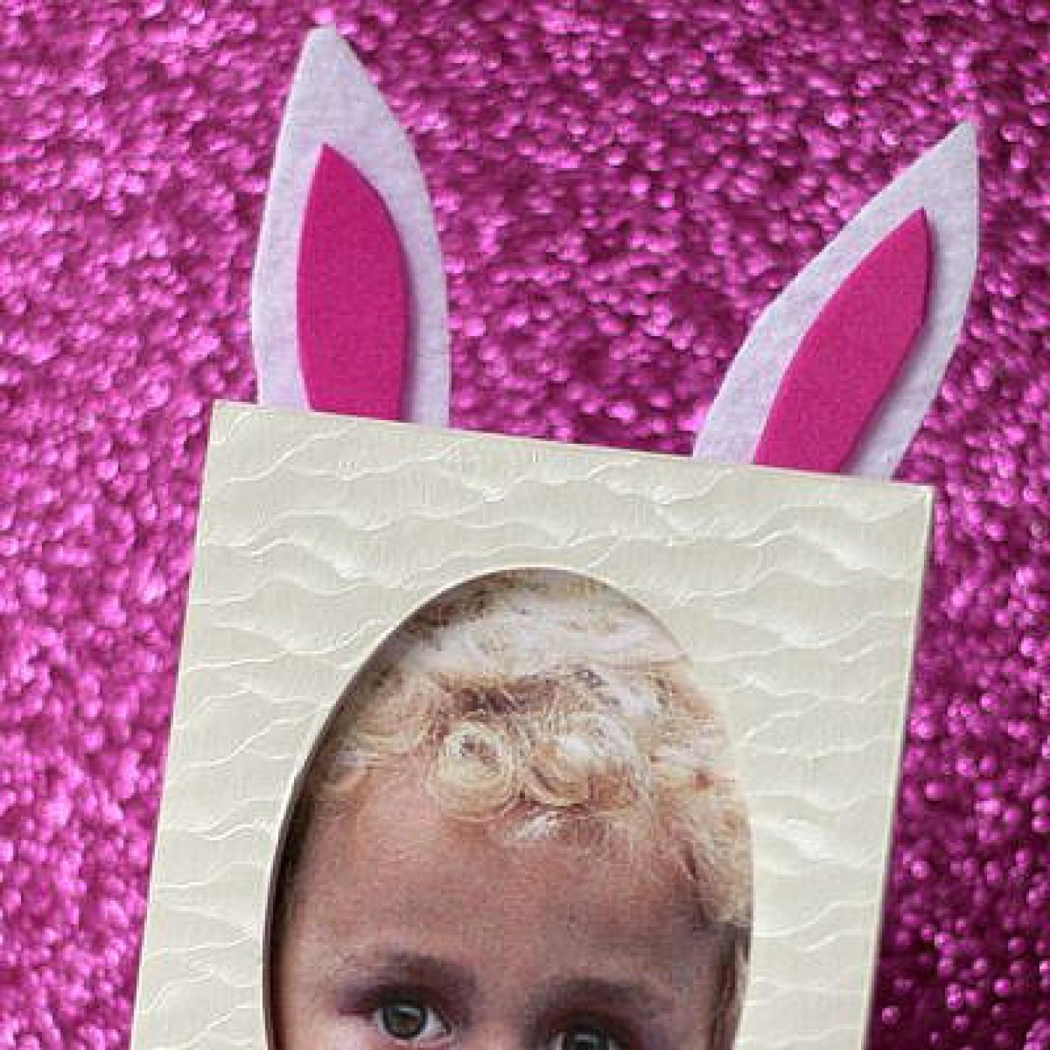 easter bunny photo craft parenting
