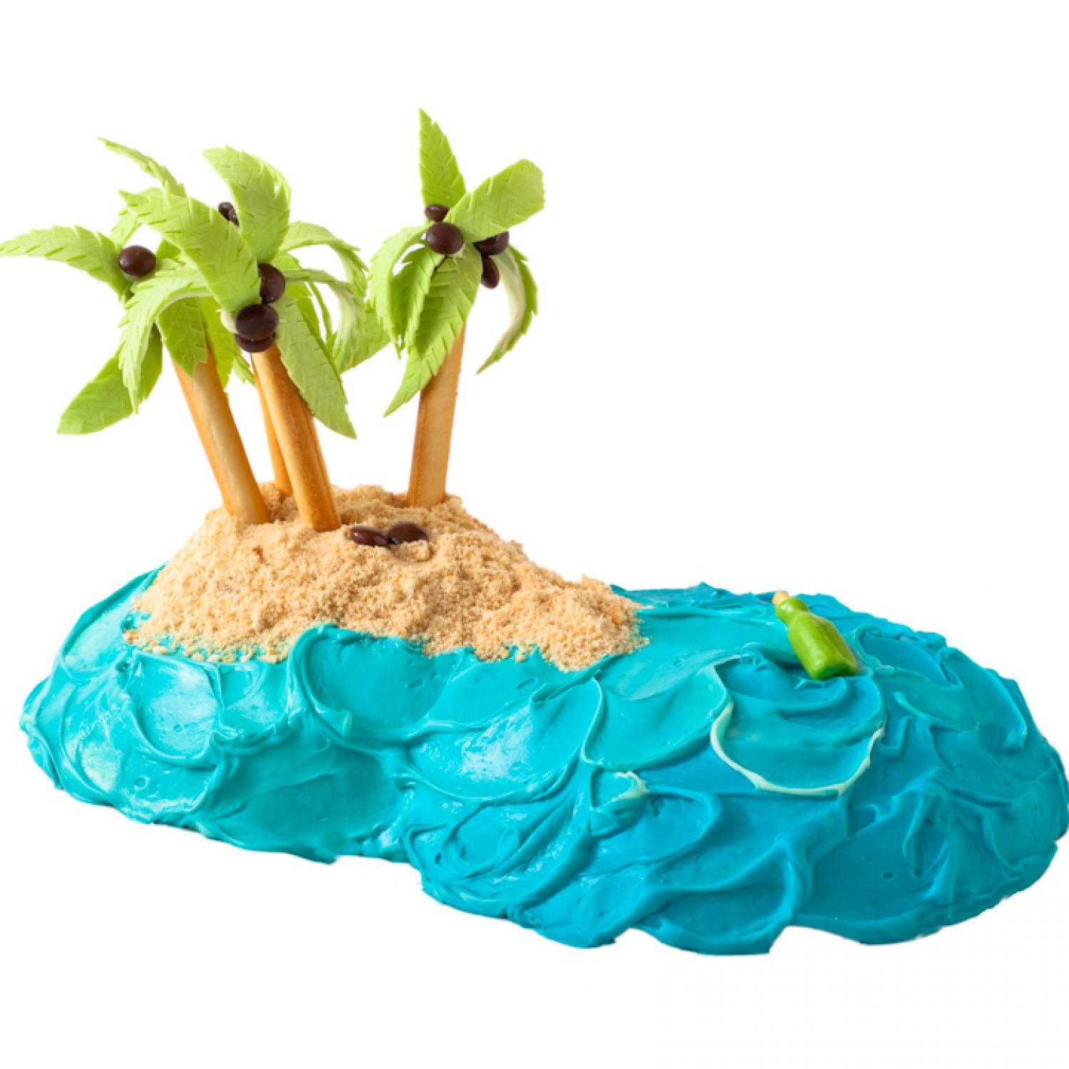 Tropical Island Cake Ideas