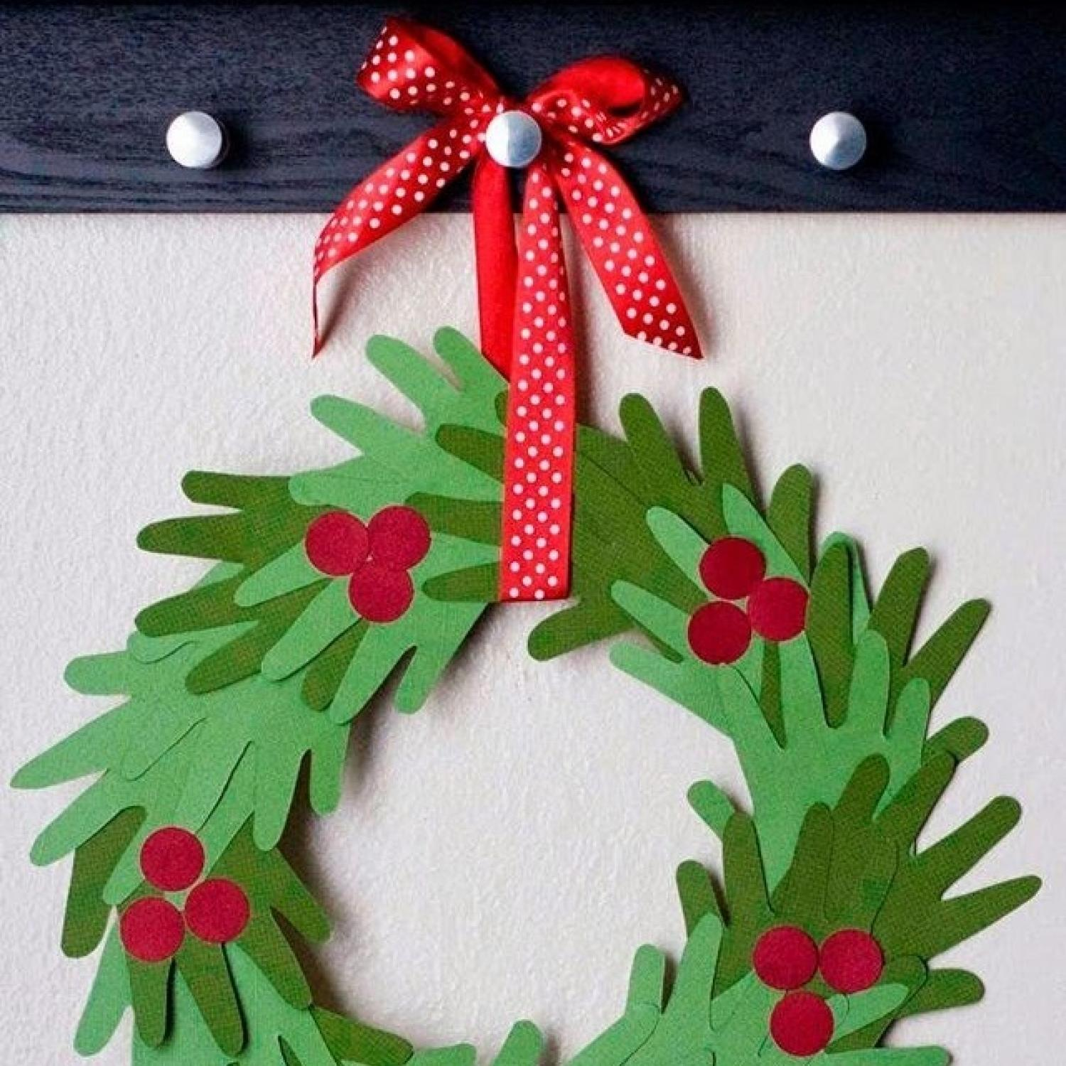 10 handprint christmas crafts for kids parenting for Holiday project