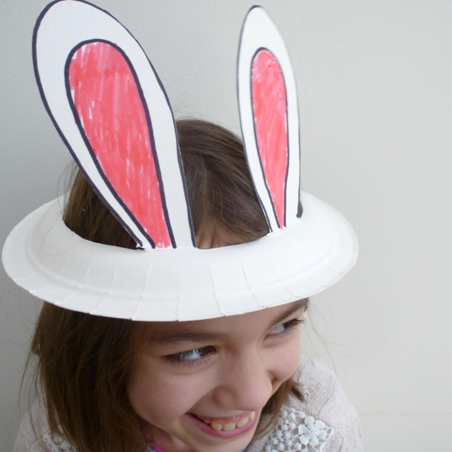 Plastic headbands for crafts - 10 Cute Easter Crafts To Make With A Paper Plate
