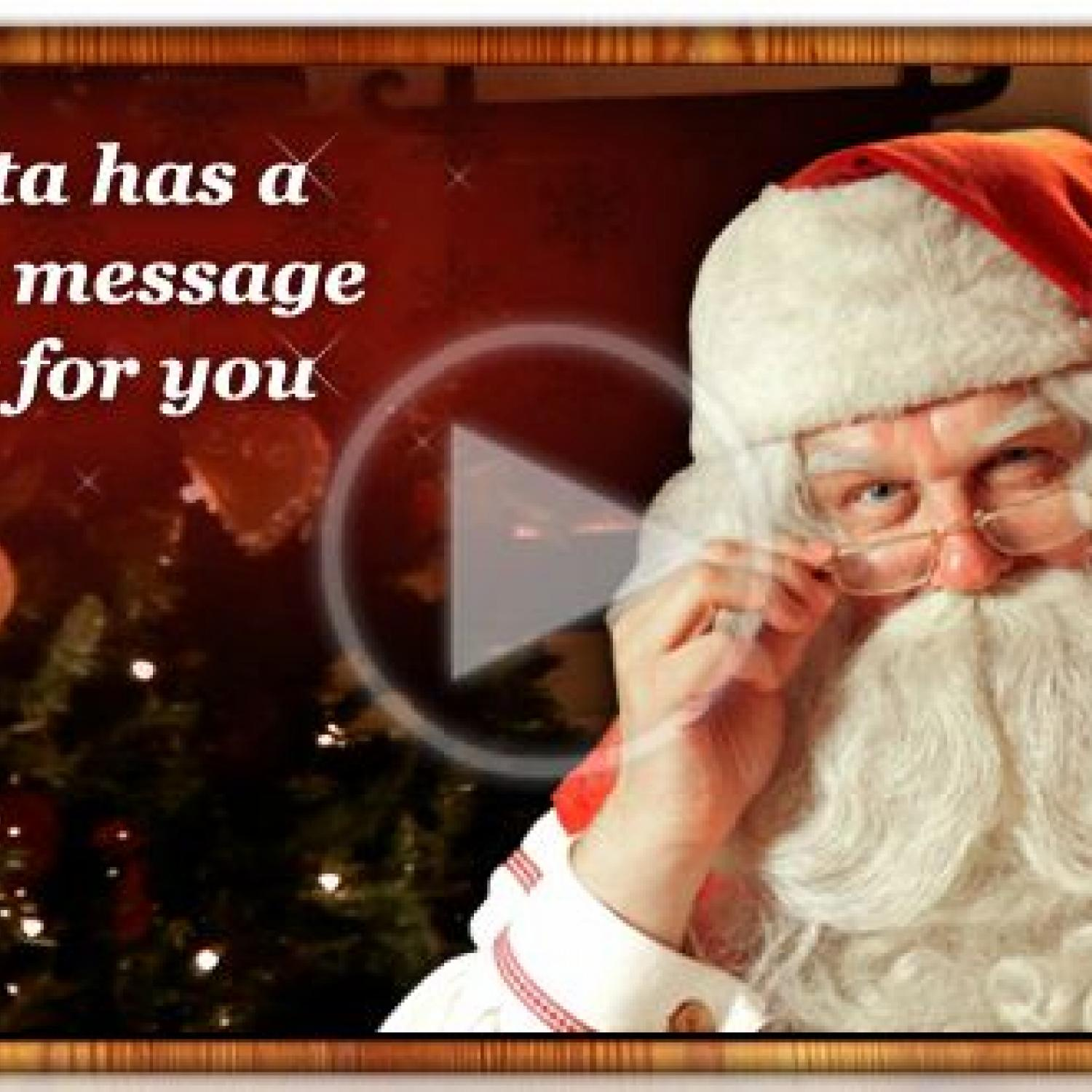 get a personalized video message from santa for free from