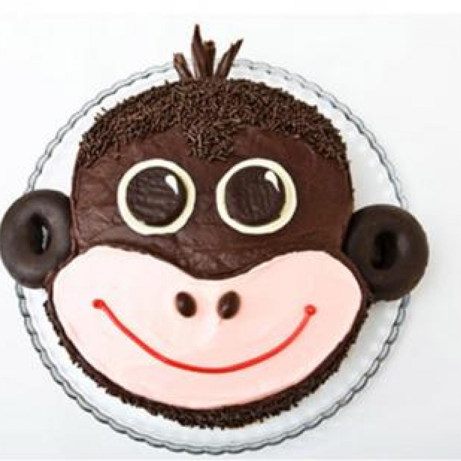 Monkey Cake Design Easy : Monkey Birthday Cake Design Parenting