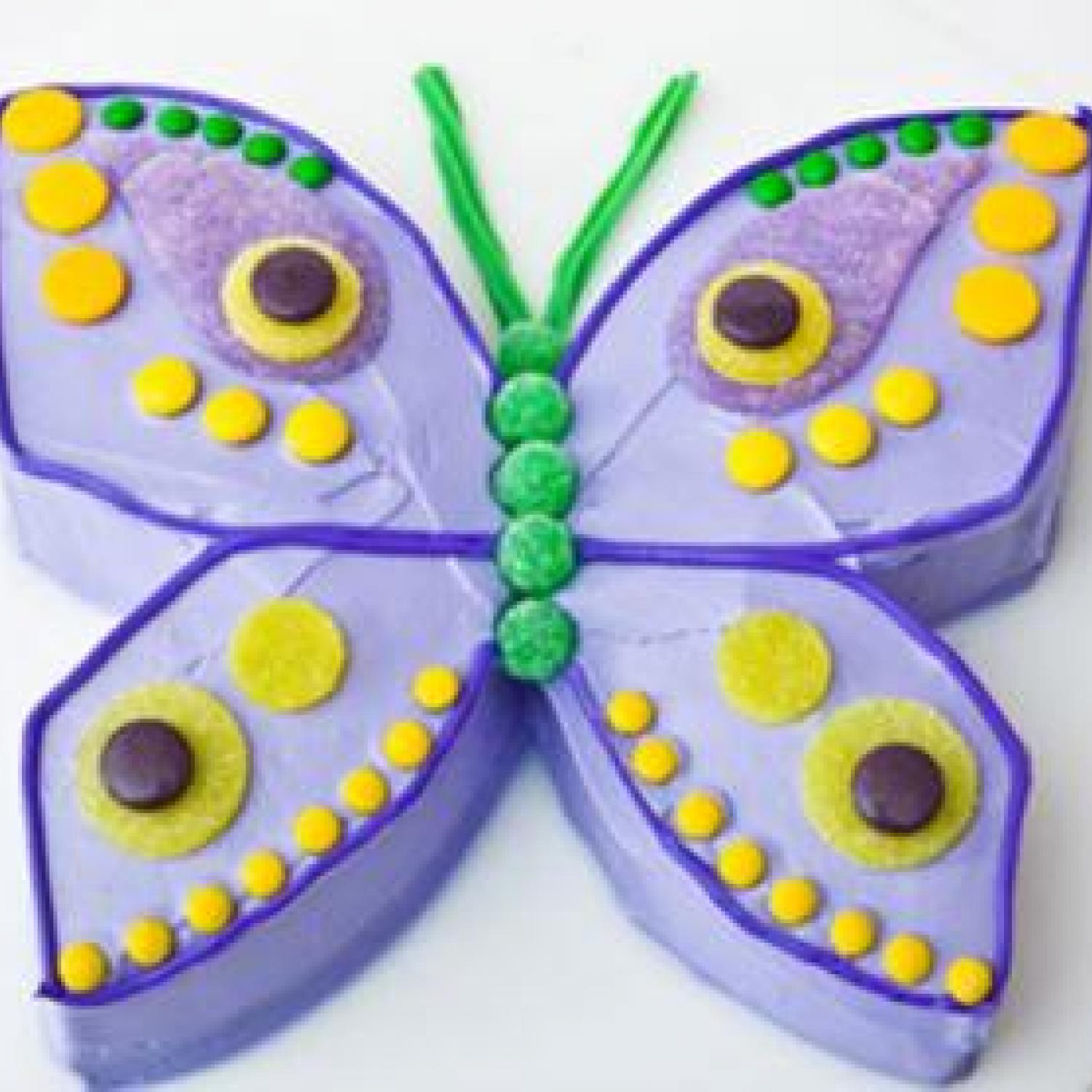 How To Cut Butterfly Cakes