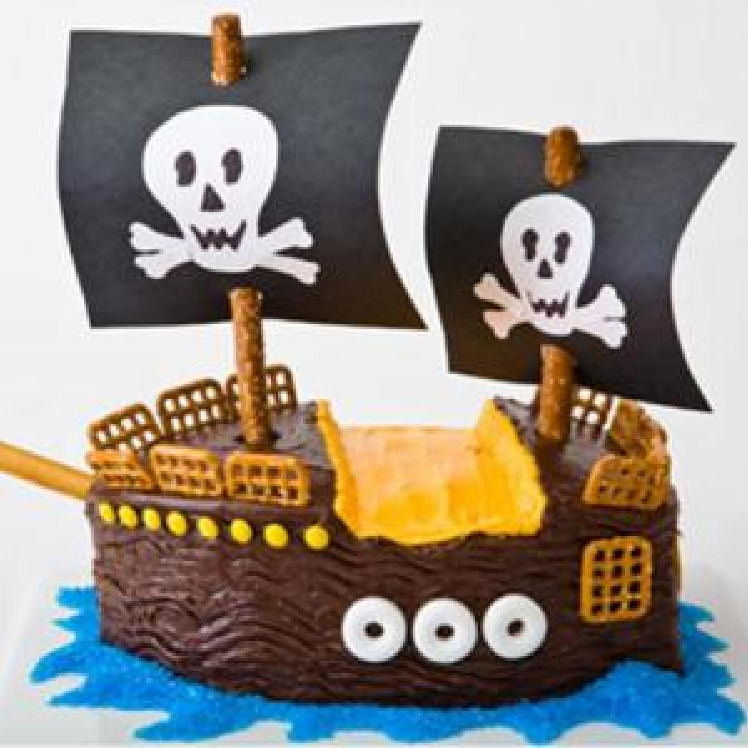 Making Pirate Cake
