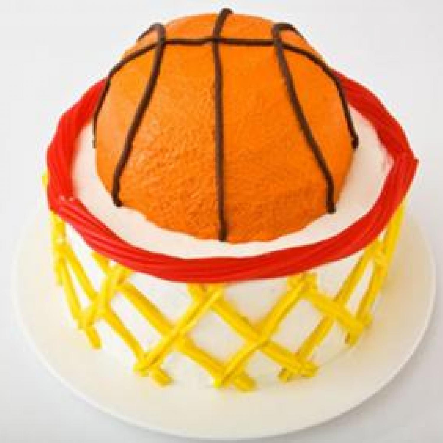Basketball with hoop birthday cake design parenting for How to build a basketball goal