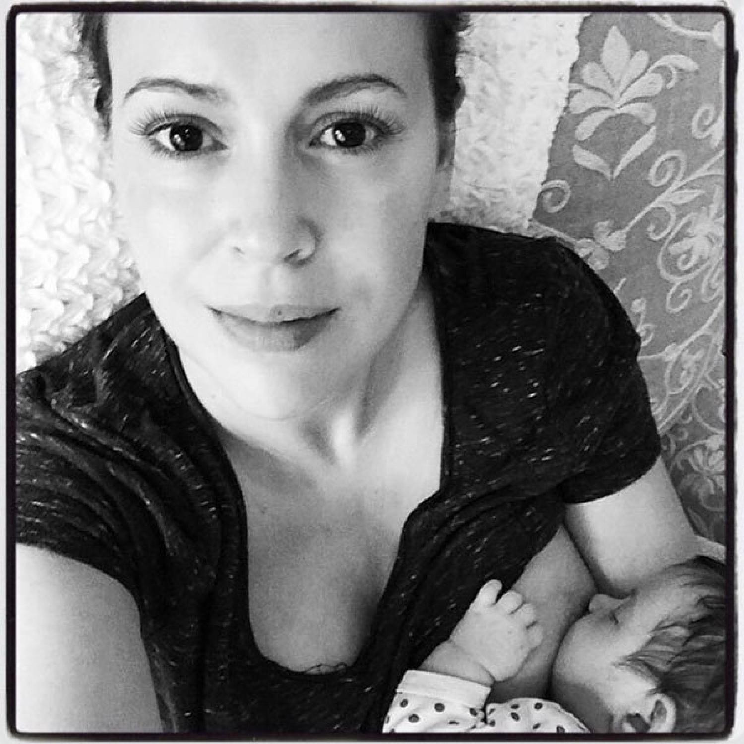 breastfeeding nude Why Are Alyssa Milano's Breastfeeding Photos Offensive but Kim K's Naked  Derrière Isn't? | Parenting