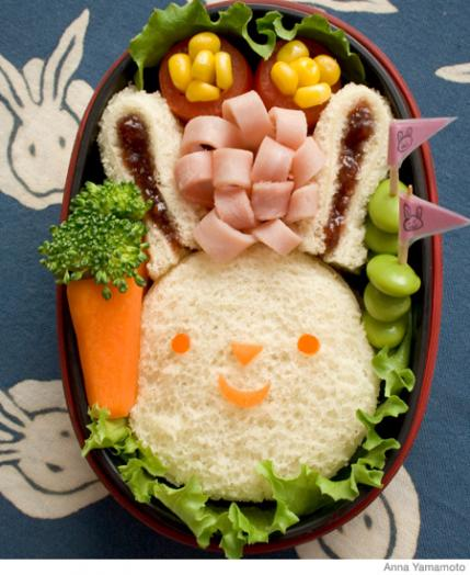 how to make a bunny bento lunch box parenting. Black Bedroom Furniture Sets. Home Design Ideas