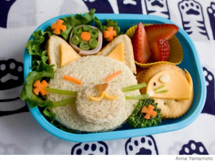 how to make a cat bento lunch box parenting. Black Bedroom Furniture Sets. Home Design Ideas