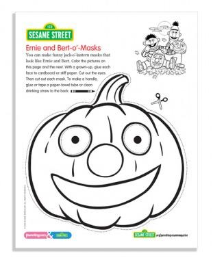 Sesame Street October Coloring Pages