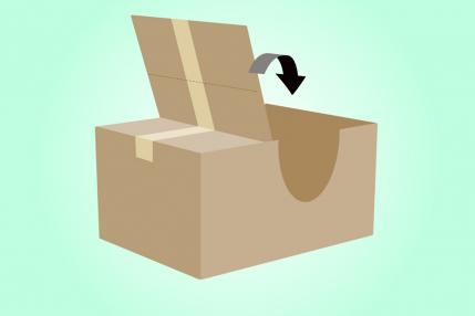 How to make a cardboard box car parenting for How to make a letterbox out of cardboard
