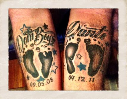 20 cool dad tattoos parenting for First child tattoo ideas