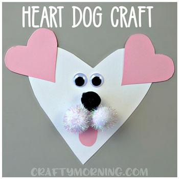 valentines day craft heart dog craft