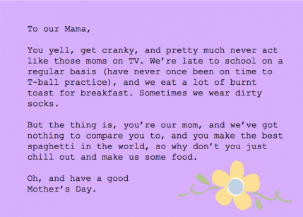 Honest Mother 39 S Day Cards Parenting