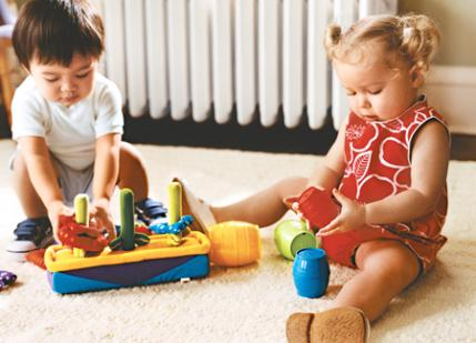 picture of child playing with toys