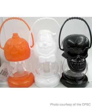 about pumpkin ghost and skull halloween lanterns sold at dollar tree stores have been recalled the bulb in the lanterns can - Battery Operated Lanterns