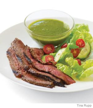 Grilled Sirloin Steak with Herb Sauce + A Week of Dinners ...
