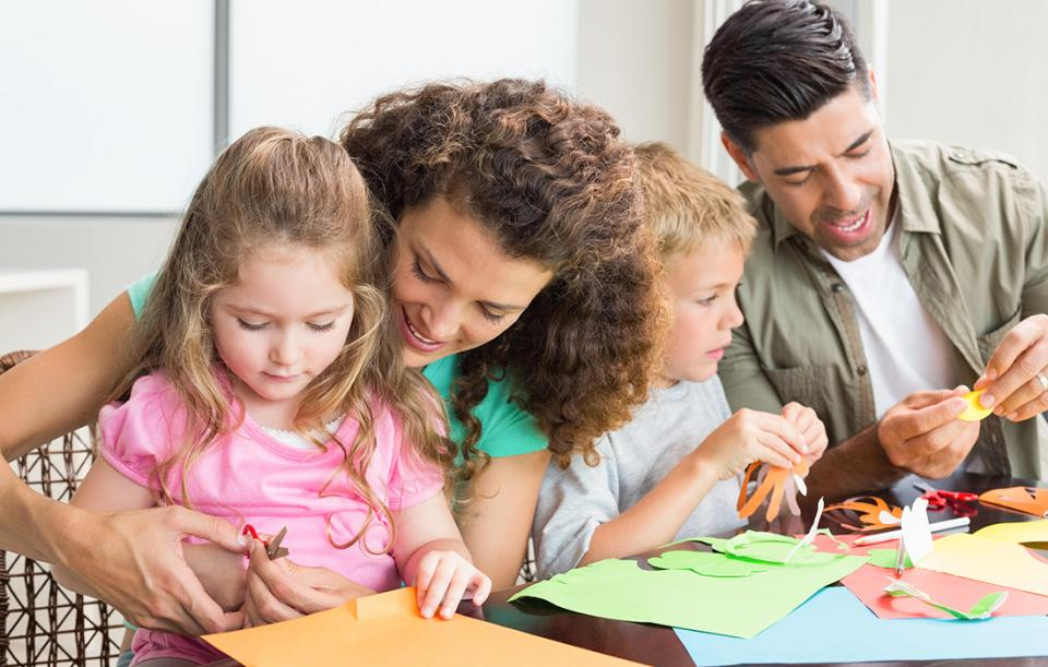 Image result for family doing crafts