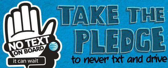 u201cit can wait u201d  u2013 take the pledge to stop texting and