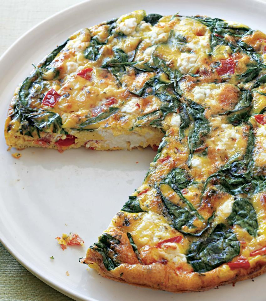 spinach and feta cheese frittata