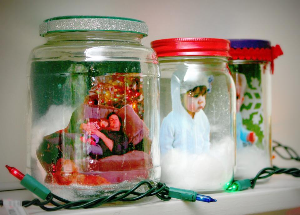 DIY Photo Snow Globes