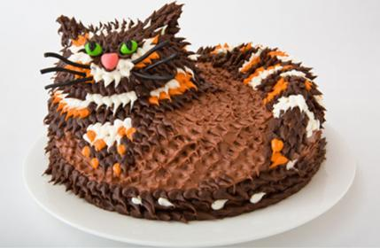 Simple Cat Cake Decoration Perfectend for