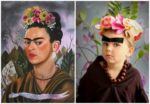 Children To An Art Form Literally Krutas Recreations Of Famous Paintings With Her Kids And Others As Models Are Going Viral Its Easy See Why