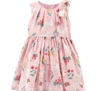 Easter Clothes for Kids Floral Pink Dress