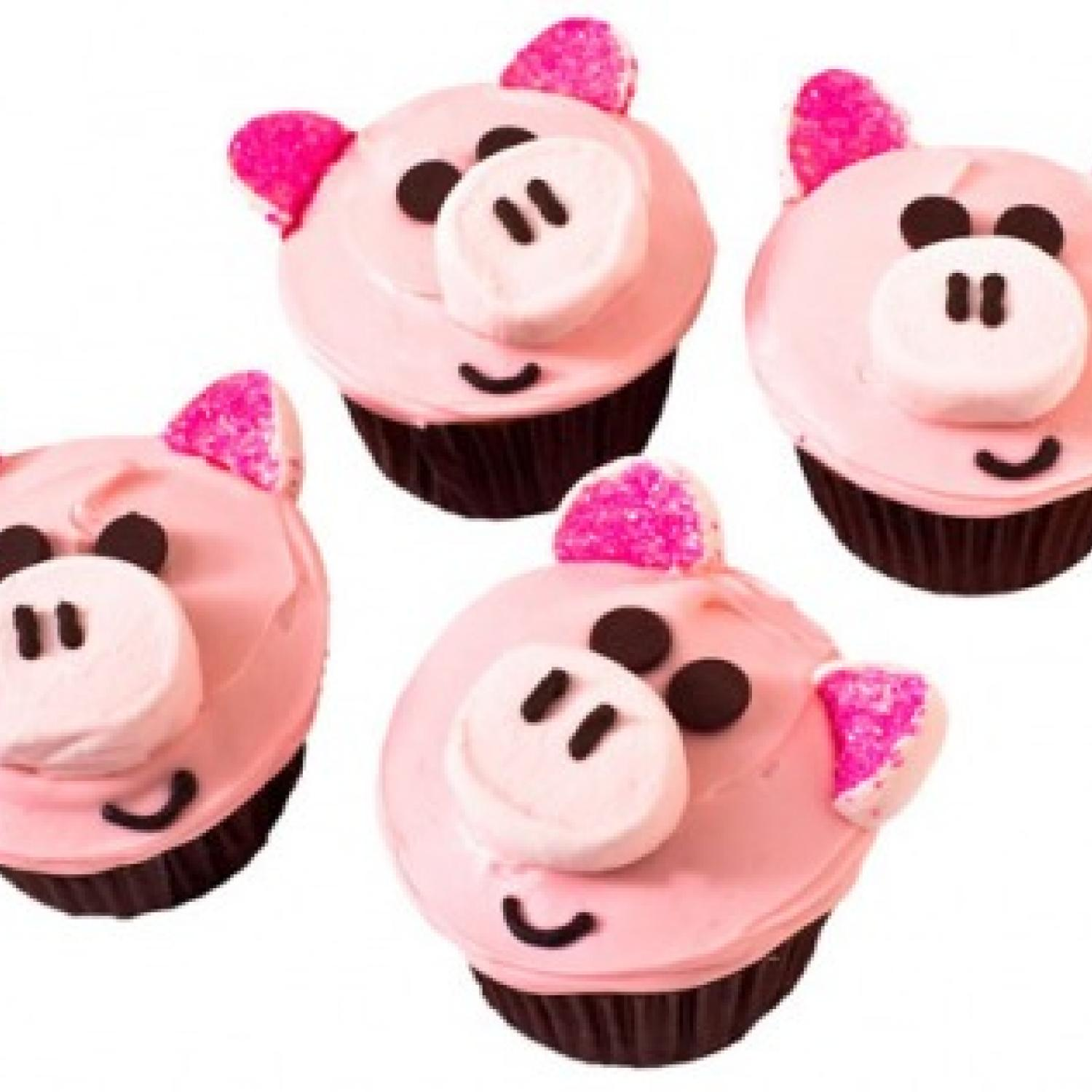 Piggy Birthday Cupcakes Design
