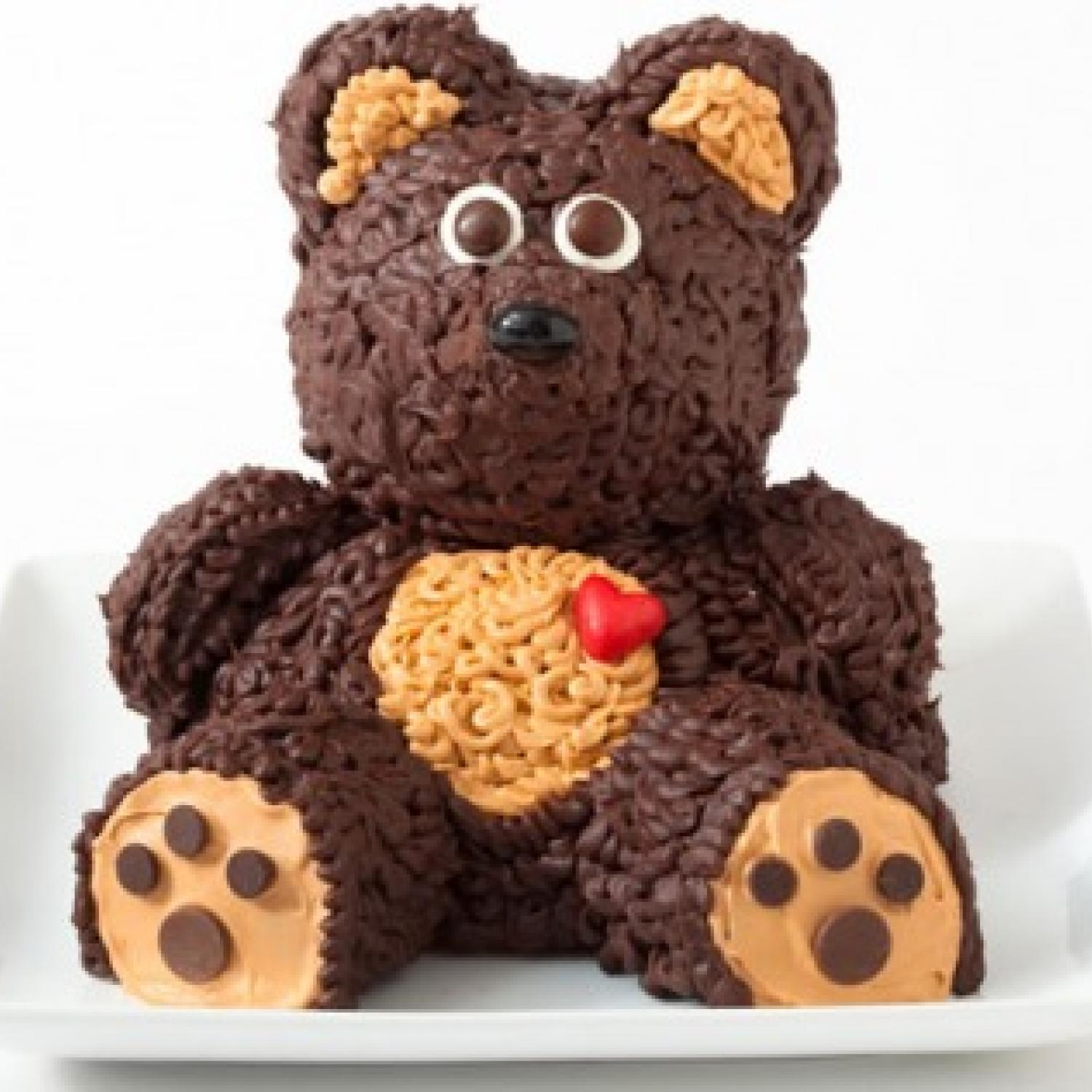 Teddy Bear Birthday Cake Design