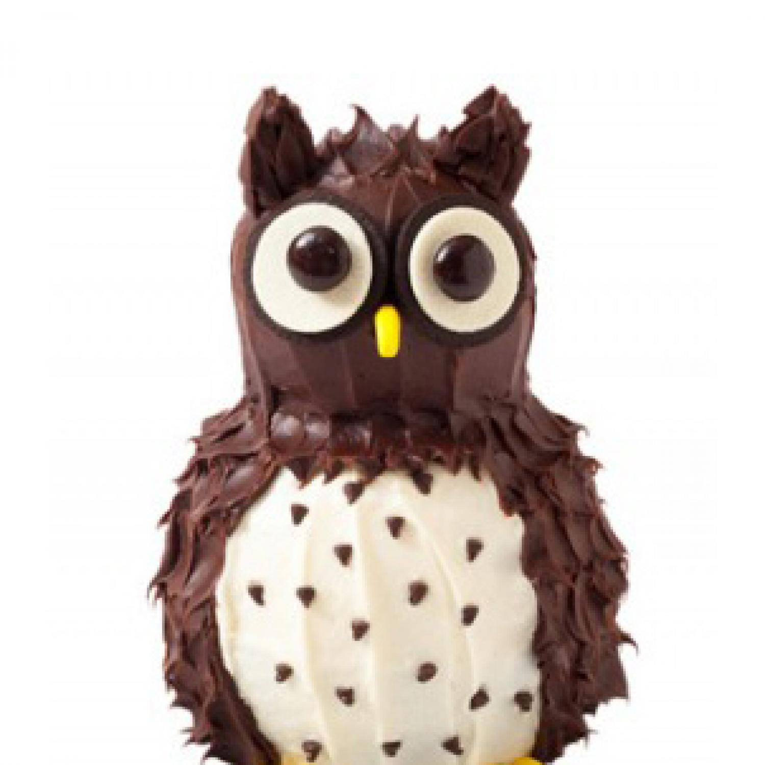 how to make a 3d owl cake