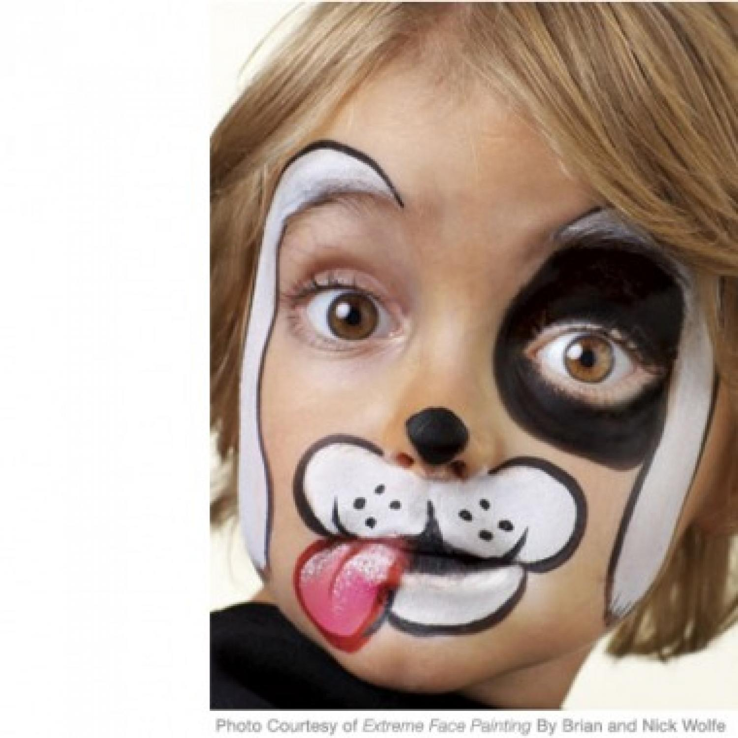 Face painting: drawings for beginners. Face painting for children 47