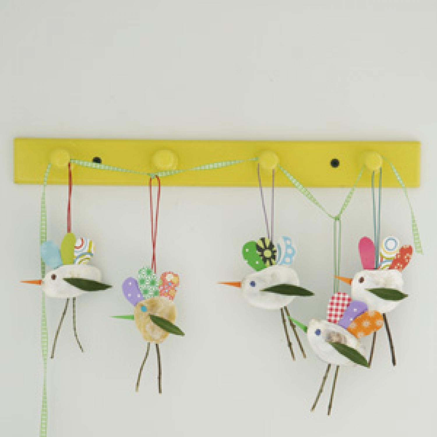 spring arts and crafts ideas bird mobile craft parenting 7176