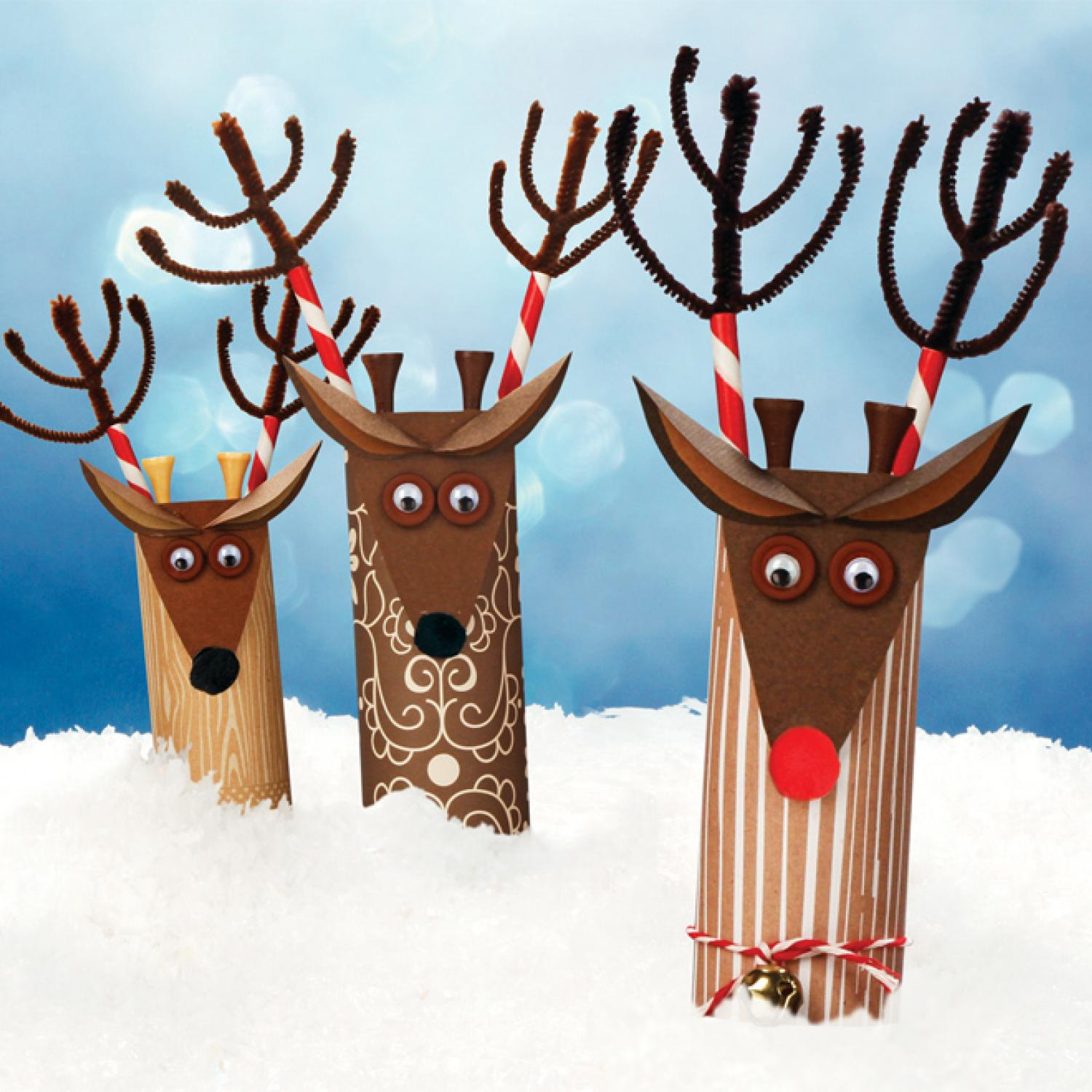 Christmas Reindeer Ornament Crafts