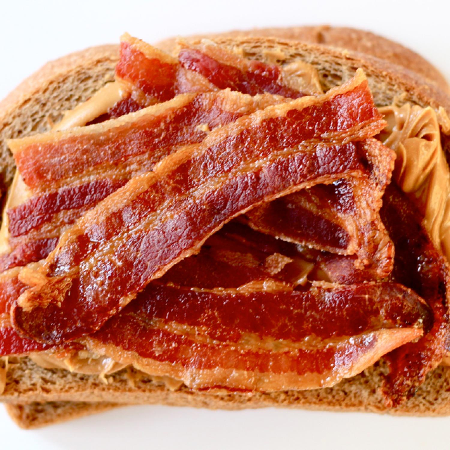 sandwich of the day peanut butter and bacon  parenting