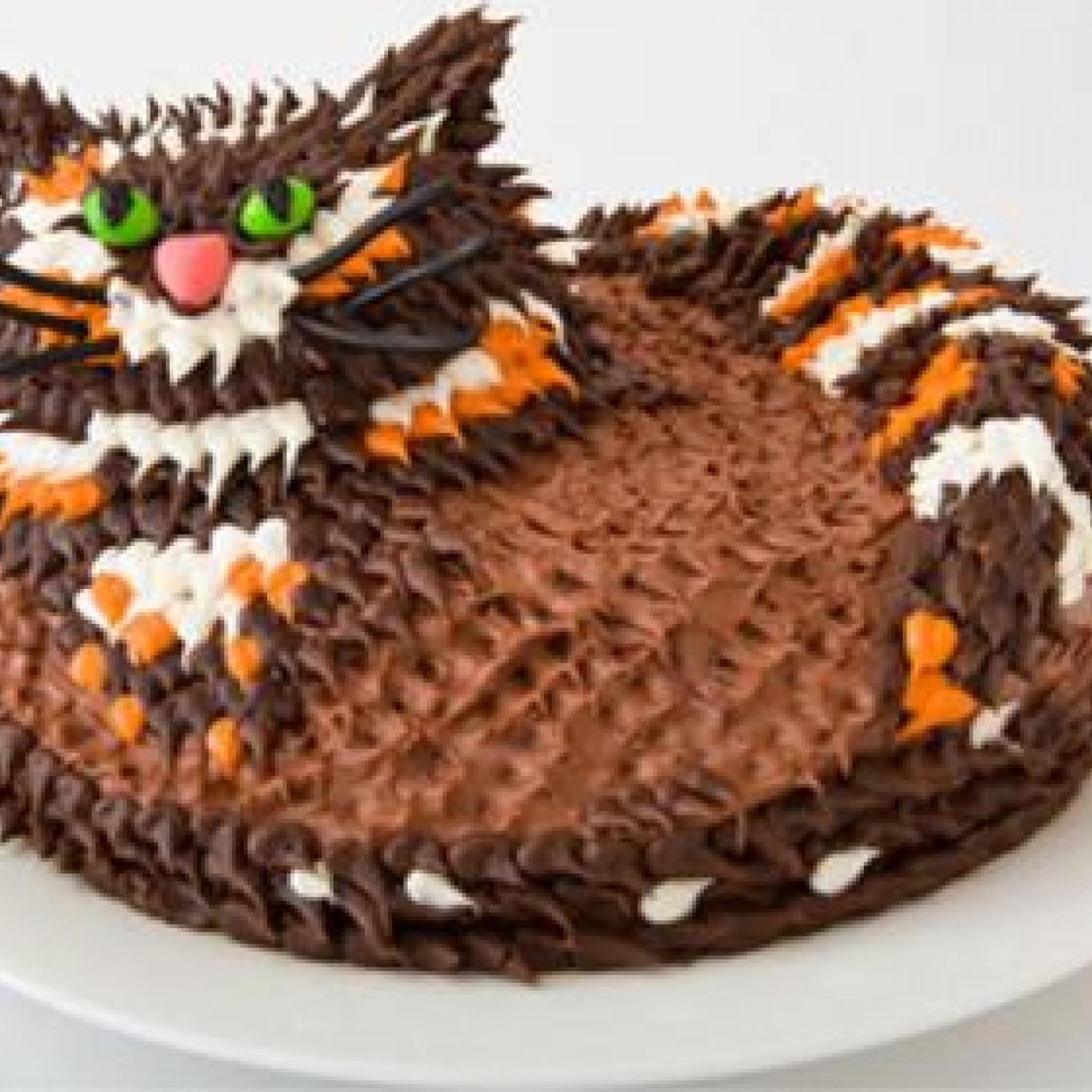 Cat Birthday Cake Design