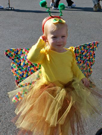 This picture is of my almost 2-year-old dressed as u0027the beautiful butterflyu0027 from The Very Hungry Caterpillar book by Eric Carle.  sc 1 st  Parenting & 75 Cute Homemade Toddler Halloween Costume Ideas | Parenting