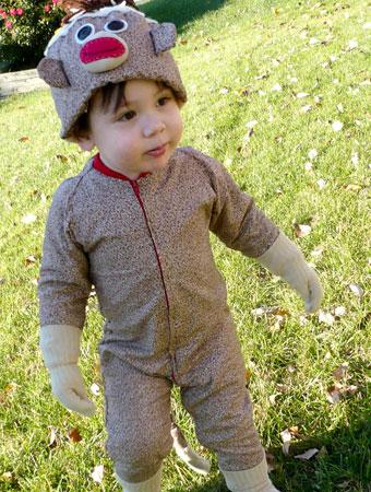 My son was given a sock monkey for his birthday and attached to it immediately. Almost a year later weu0027ve gone through three sock monkeys ...  sc 1 st  Parenting & 75 Cute Homemade Toddler Halloween Costume Ideas | Parenting