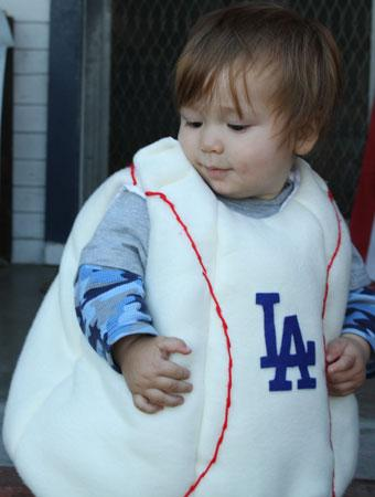 My son Jesse as a LA Dodger Baseball!   sc 1 st  Parenting & 75 Cute Homemade Toddler Halloween Costume Ideas | Parenting