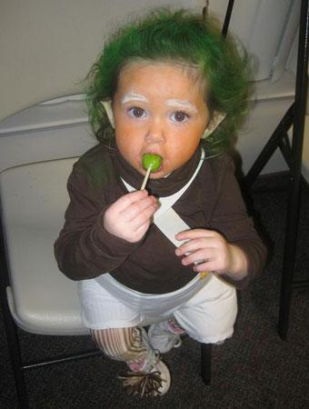 This is an Oompa Loompa costume that I made for my daughter Caidence. I made the costume because as a child Charlie and the Chocolate Factory was one of ...  sc 1 st  Parenting & 75 Cute Homemade Toddler Halloween Costume Ideas | Parenting