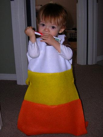 This was a simple and fast costume concept that my 15-month-old son could walk in easily. It seemed fitting to make a candy corn costume for my son ...  sc 1 st  Parenting & 75 Cute Homemade Toddler Halloween Costume Ideas | Parenting