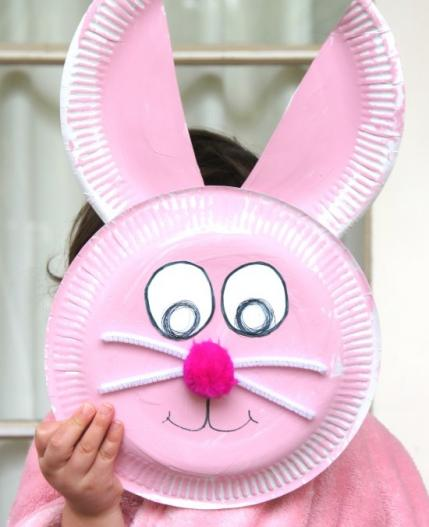 Paper Plate Rabbit Craft
