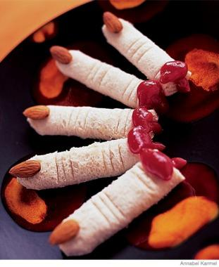 easy halloween recipes dead mans finger sandwiches