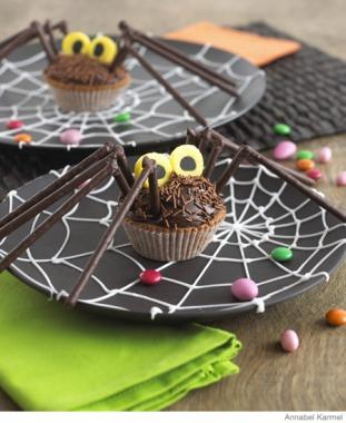 Easy Halloween Recipes Spider Cupcakes